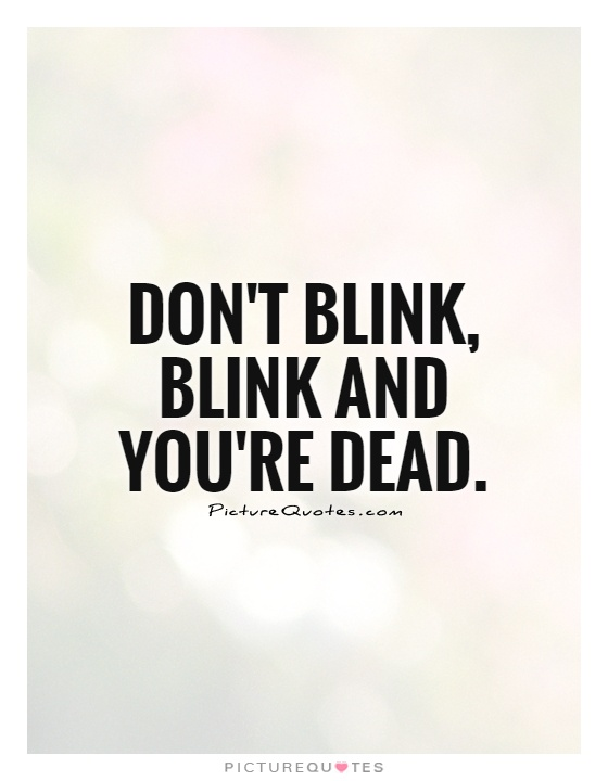 dont blink essay Blink is a compelling read, despite its weak overall theme, which is that sometimes split-second decisions are good and sometimes they're bad, and we need to learn when to trust our first impressions and when to discount th.