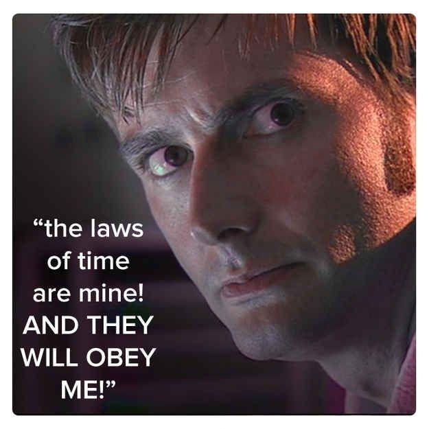 The laws of time are mine and they will obey me Picture Quote #1