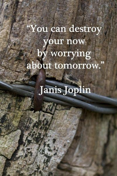 You can destroy your now by worrying about tomorrow Picture Quote #1