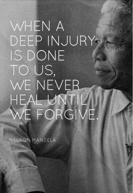 When a deep injury is done to us, we never heal until we forgive Picture Quote #1