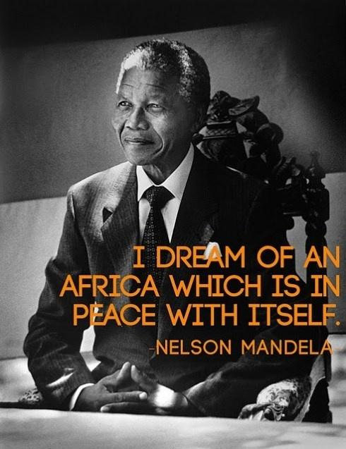I dream of an Africa which is in peace with itself Picture Quote #1