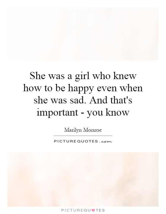 she is happy quotes