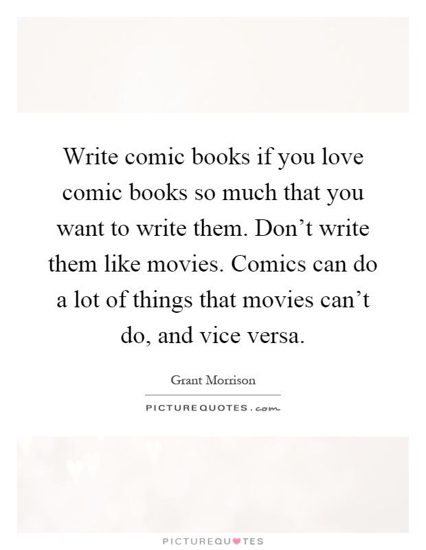writing comic books