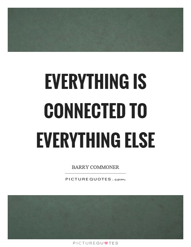 Everything is Connected With Everything Else