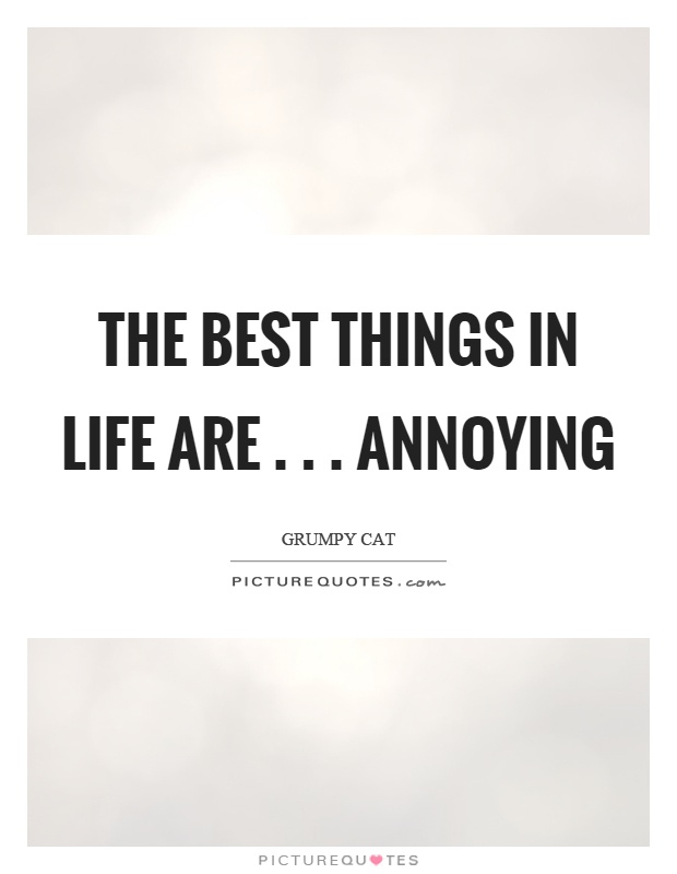The best things in life are... Annoying Picture Quote #1
