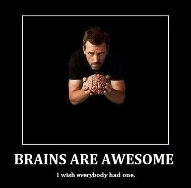 Brains are awesome. I wish everybody had one Picture Quote #1
