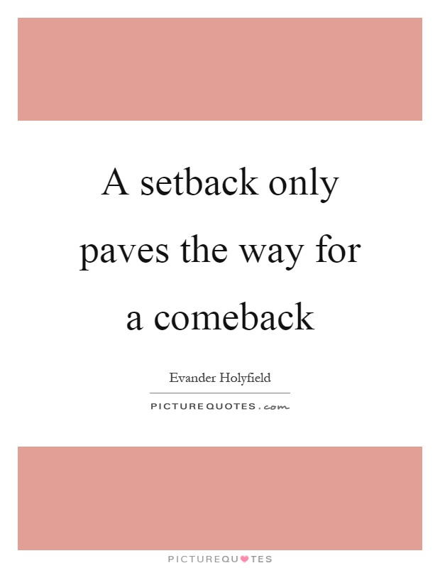 a setback is a setup for a comeback pdf