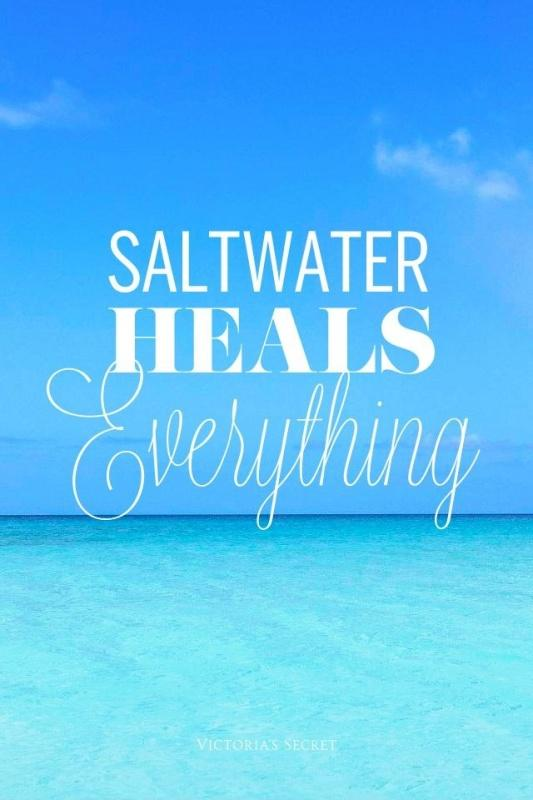 Saltwater heals everything Picture Quote #1