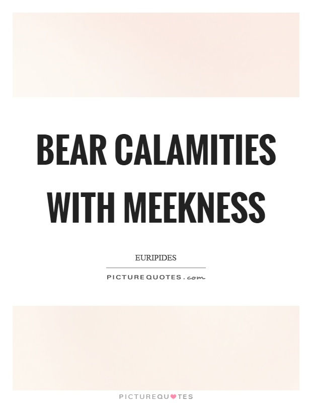 Bear calamities with meekness Picture Quote #1