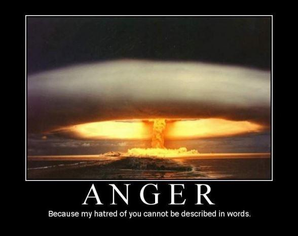 Anger. Because my hatred for you cannot be described in words Picture Quote #1