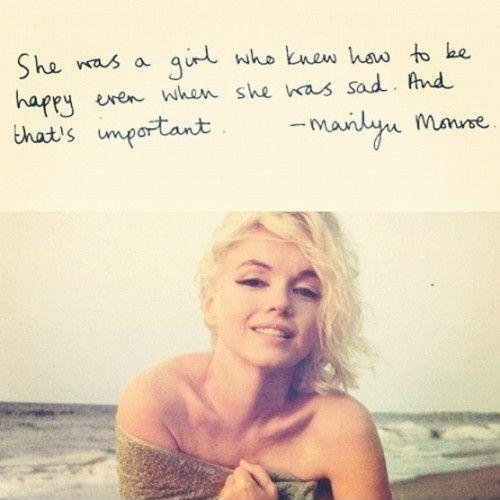She was a girl who knew how to be happy even when she was sad Picture Quote #1