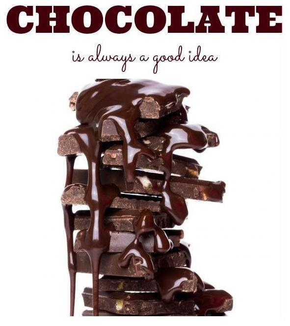 Chocolate is always a good idea Picture Quote #1