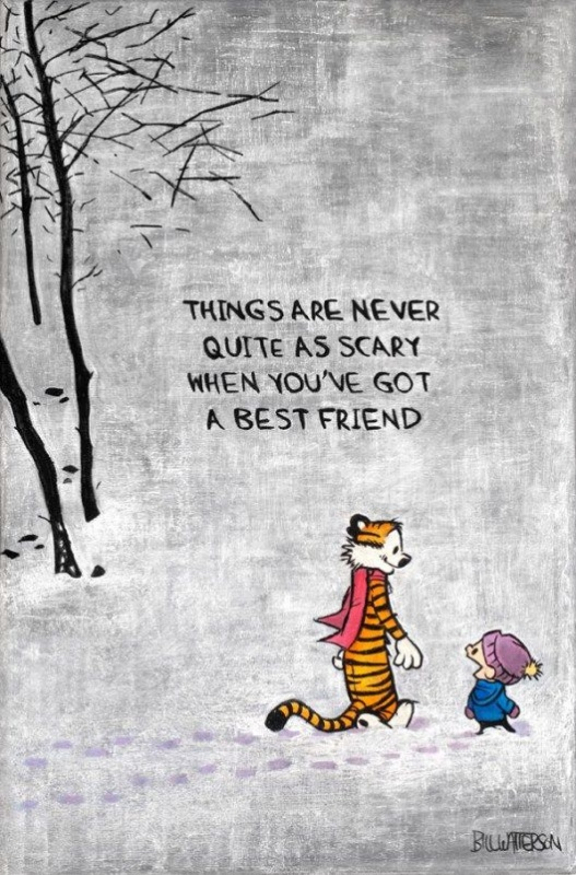 Things are never quite as scary when you've got a best friend Picture Quote #2