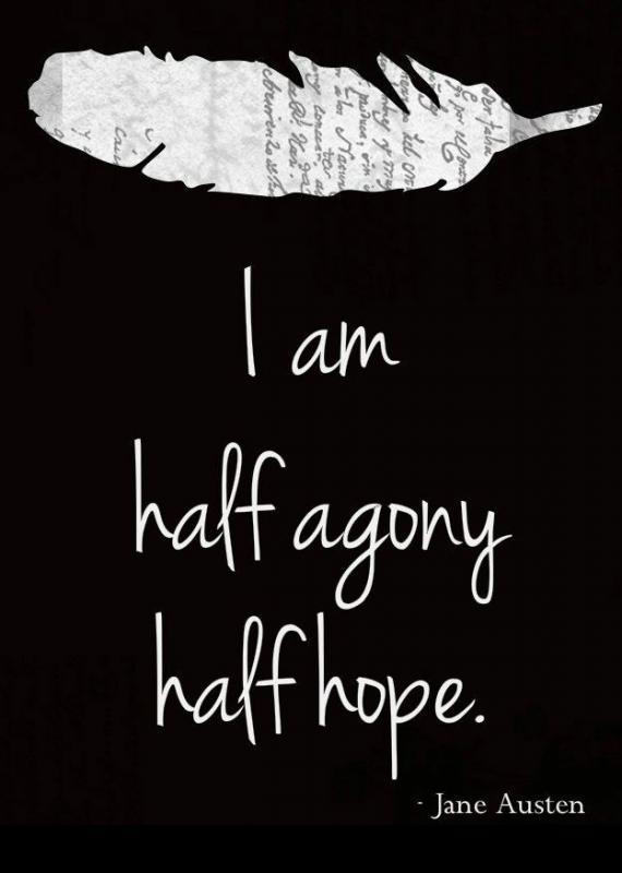 I am half agony, half hope Picture Quote #1