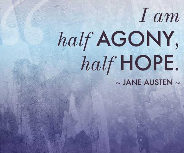 I am half agony, half hope Picture Quote #2
