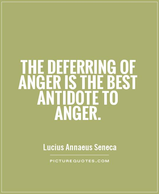 The deferring of anger is the best antidote to anger Picture Quote #1
