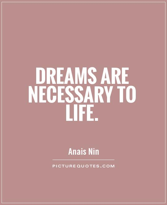 Dreams are necessary to life Picture Quote #1