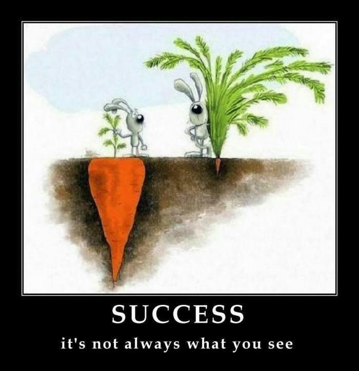 Success. It's not always what you see Picture Quote #1