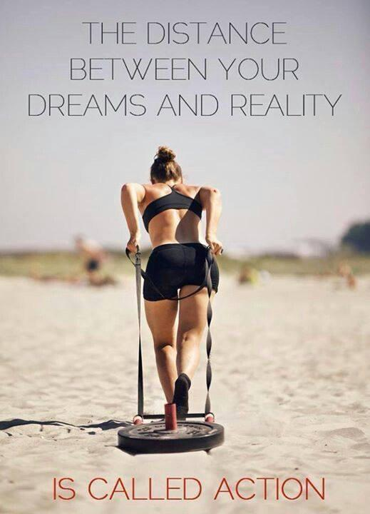 The distance between your dreams and reality is called action Picture Quote #1
