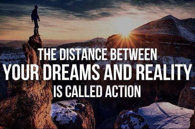 The distance between your dreams and reality is called action Picture Quote #2