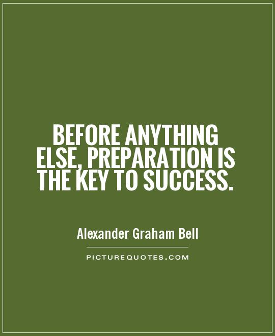 Before anything else, preparation is the key to success Picture Quote #1