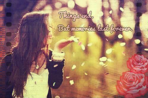 Things end. But memories last forever Picture Quote #1
