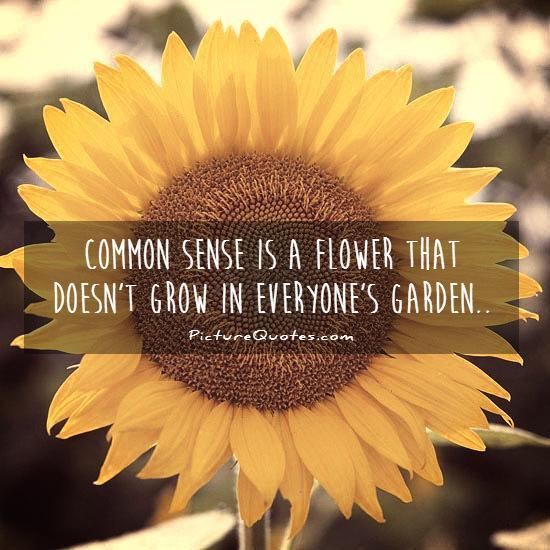 Common sense is a flower that doesn't grow in everyone's garden Picture Quote #1