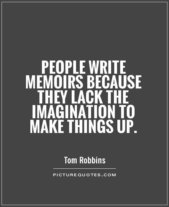 On Writing a Memoir