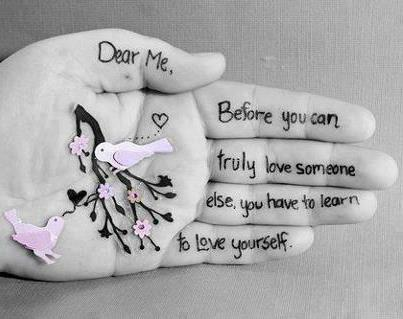 before you can truly love someone else, you have to learn to love yourself Picture Quote #1