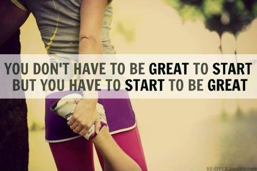 You don't have to be great to start, but you have to start to be great Picture Quote #1