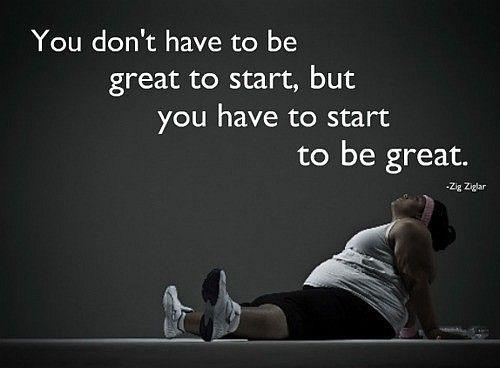 You don't have to be great to start, but you have to start to be great Picture Quote #2