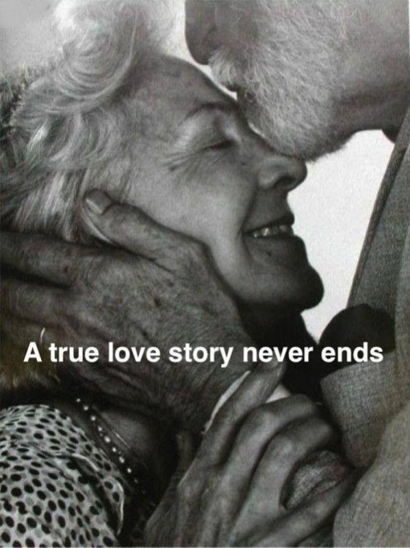 A true love story never ends Picture Quote #1