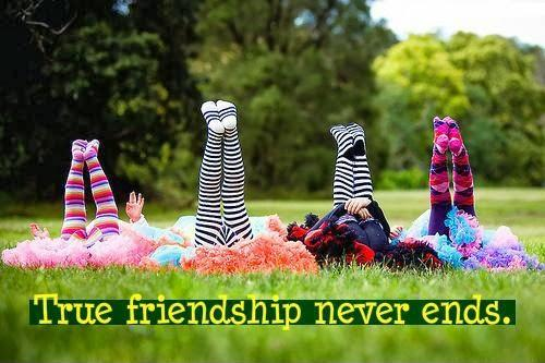 True friendship never ends Picture Quote #1