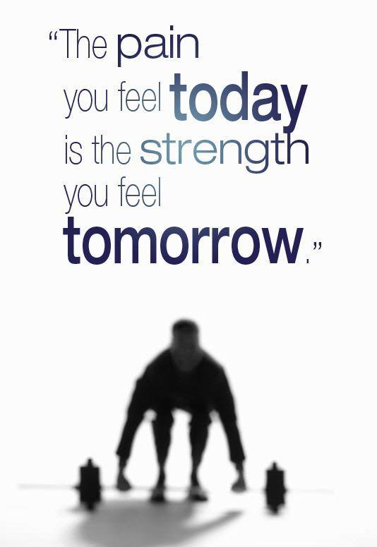 The pain you feel today is the strength you feel tomorrow Picture Quote #1