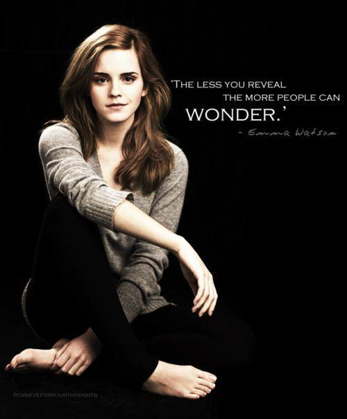 The less you reveal the more people can wonder Picture Quote #2