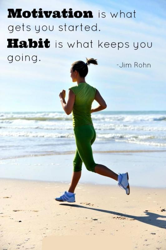 Motivation is what gets you started. Habit is what keeps you going Picture Quote #1
