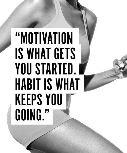 Motivation is what gets you started. Habit is what keeps you going Picture Quote #2