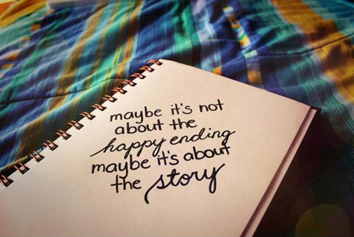 Maybe it's not about the happy ending. Maybe it's about the story Picture Quote #2
