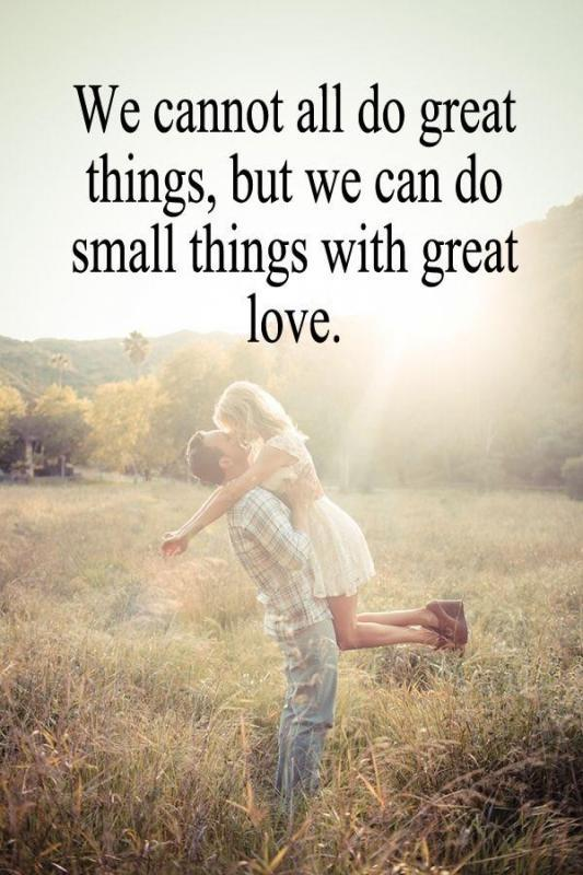 We cannot all do great things, but we can do small things with great love Picture Quote #1