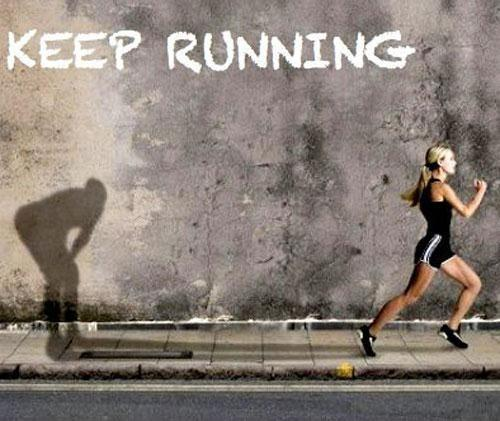 Keep running Picture Quote #1