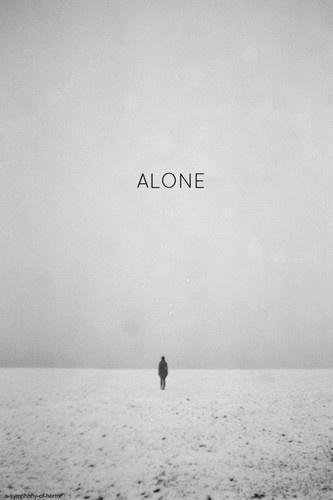 Alone Picture Quote #1