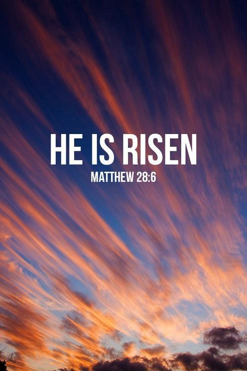 He is risen | Picture Quotes