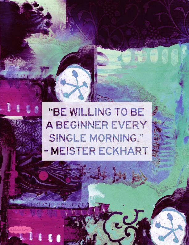 Be willing to be a beginner every single morning Picture Quote #1