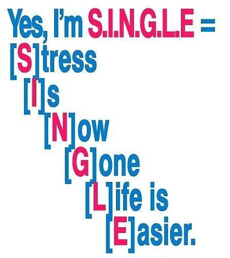 Yes, i'm single | Picture Quotes