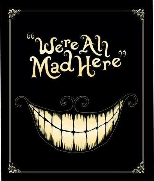 We're all mad here Picture Quote #1