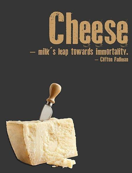 Cheese. Milk's leap towards immortality Picture Quote #1