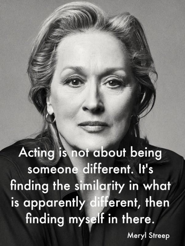 Acting is not about being someone different. It's finding the similarity in what is apparently different, then finding myself there Picture Quote #1