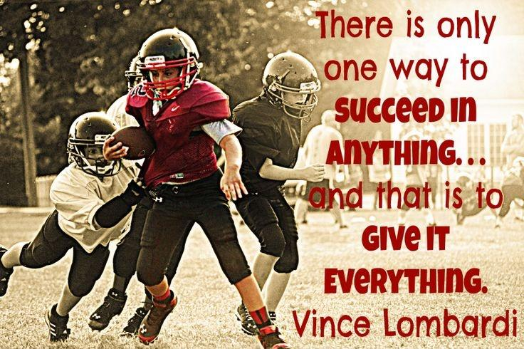 There is only one way to succeed at anything and that is to give everything Picture Quote #1