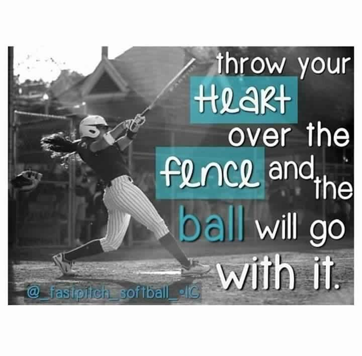 Throw your heart over the fence and the ball will go with it Picture Quote #1