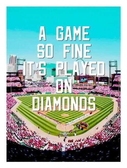 A game so fine it's played on diamonds Picture Quote #1